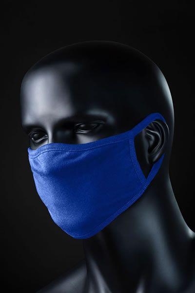 Mund und Nasenschutzmaske blau